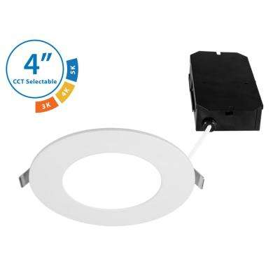 DLE4 Round 4 in. Selectable IC-Rated Integrated LED Recessed Downlight Trim Kit