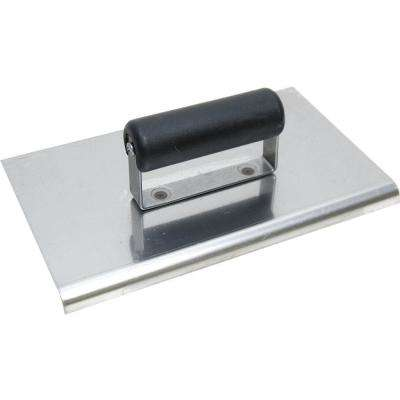 10 in. x 6 in. Stainless Steel Edger with 3/8 in. Radius - Plastic Handle