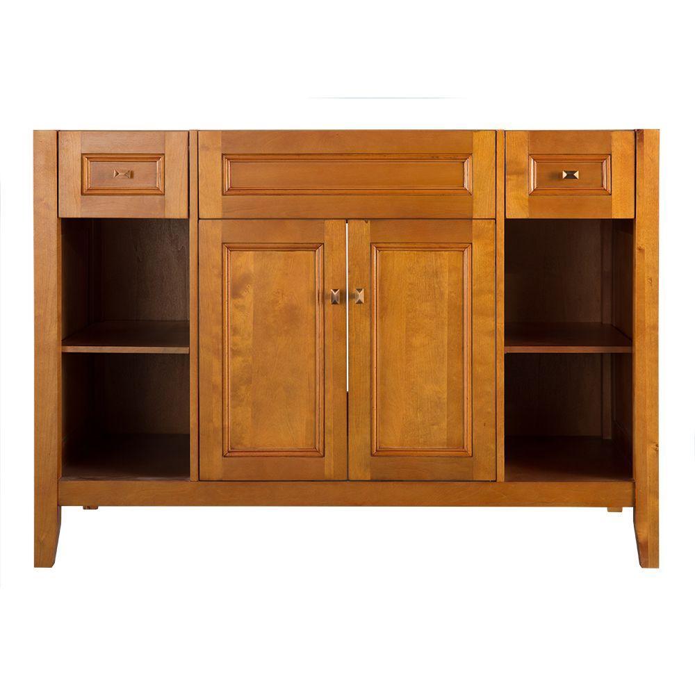 Exhibit 48 in. W Bath Vanity Cabinet Only in Rich Cinnamon