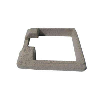 5 in. x 5 in. Composite Beige Fence End Post Concrete Bracket Skirt