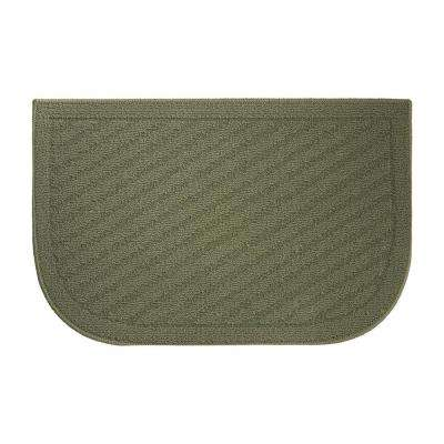 Nice Griddle Textured Loop Sage Green 18 In. X 30 In. Slice Wedge Shaped Kitchen