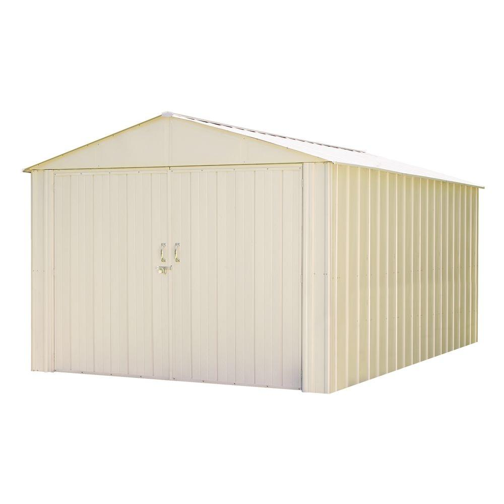 Commander 10 ft. x 25 ft. Hot Dipped Galvanized Steel Shed, Whites