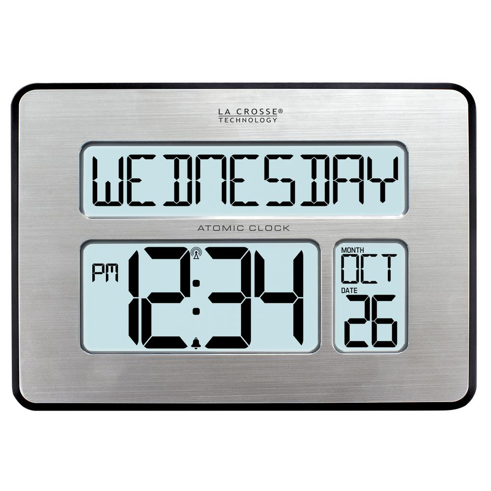 La Crosse Technology Atomic Full Calendar Digital Clock with Extra Large Digits - Perfect Gift for the Elderly