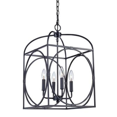 Academy 4-Light Rubbed Oil Bronze Pendant