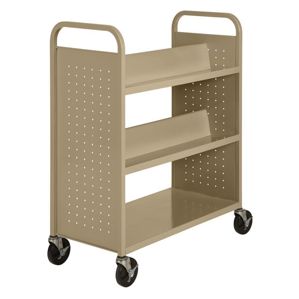 Sandusky Tropic Sand Mobile Steel Bookcase