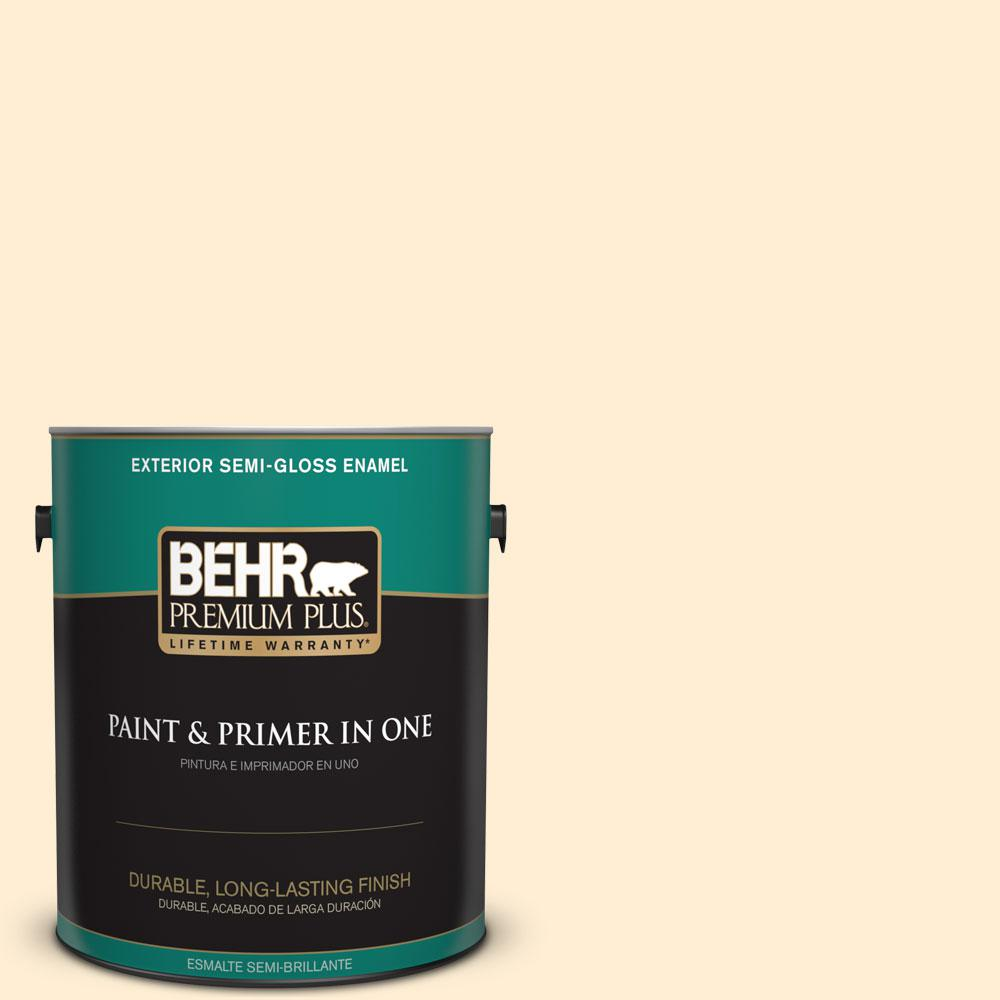 1-gal. #M270-1 Pearly White Semi-Gloss Enamel Exterior Paint