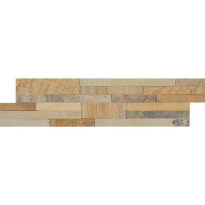 Salvador Vanilla Ledger Panel 6 in. x 24 in. Natural Limestone Wall Tile (18 cases / 144 sq. ft. / pallet)