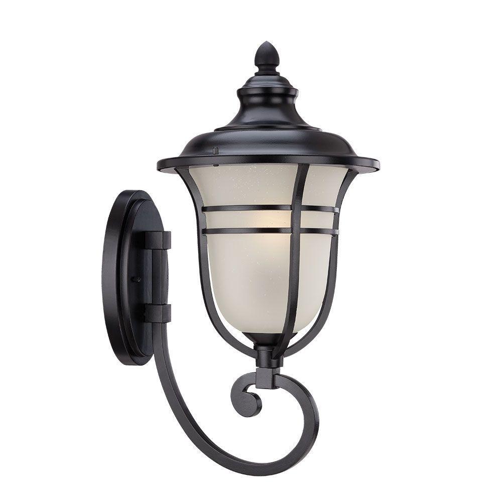 Montclair Collection 1-Light Matte Black Outdoor Wall Mount Light