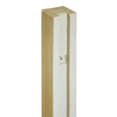 5 in. x 5 in. x 8-1/2 ft. Beige Composite Fence Gate Post