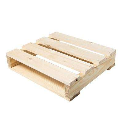 23 in. W x 20 in. D x 5 in. H Natural Pine Wood Quarter Pallet