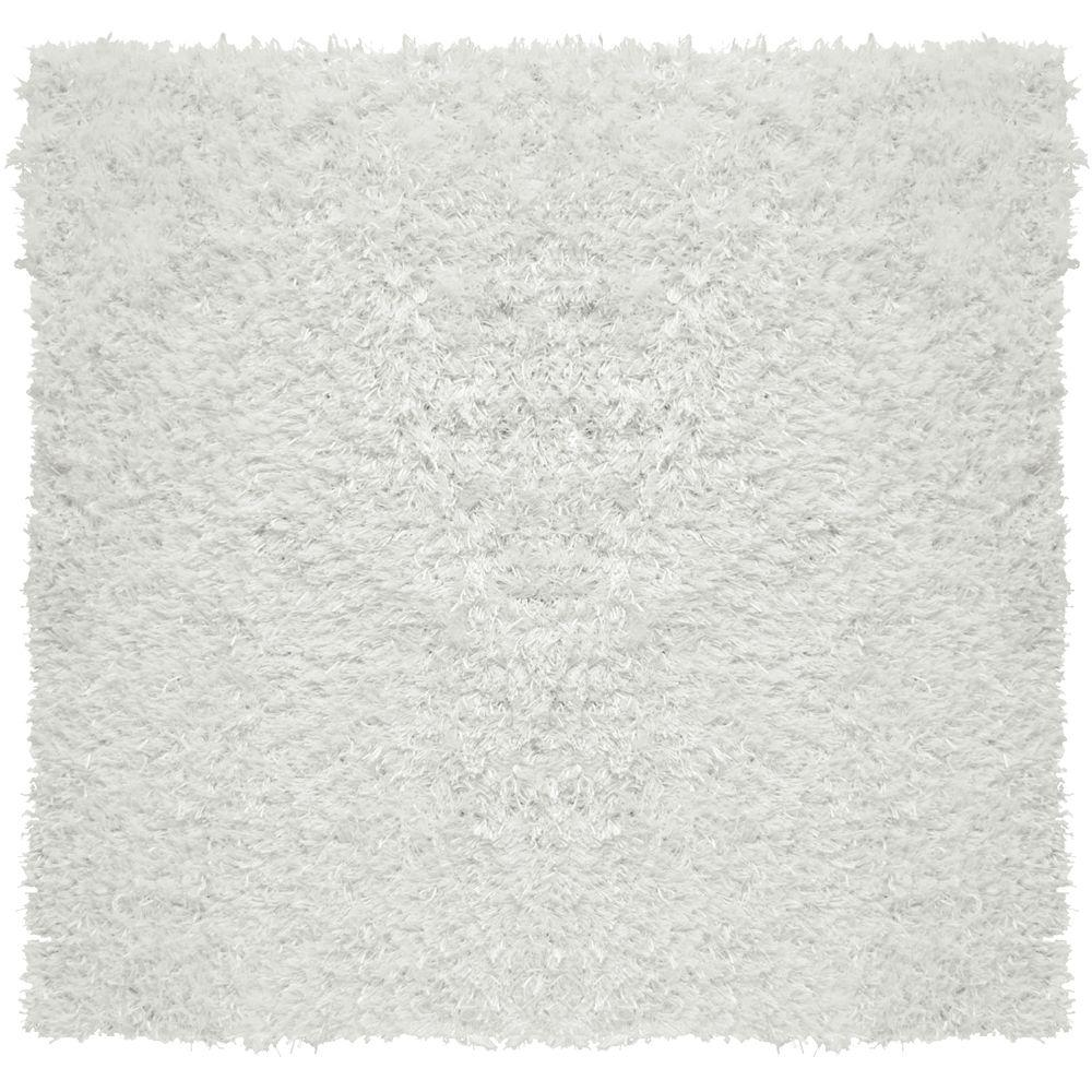 City Sheen White 10 ft. x 10 ft. Square Area Rug