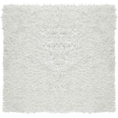 City Sheen White 8 ft. x 8 ft. Square Area Rug