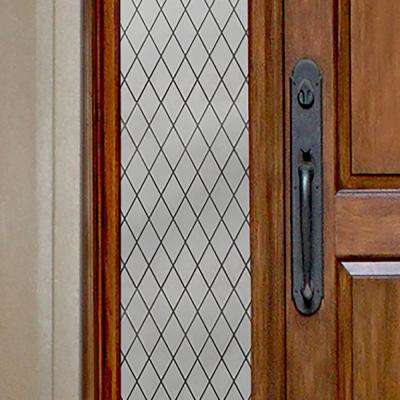 12 in. x 78 in. Frosted Lattice Privacy Control Sidelight Window Film