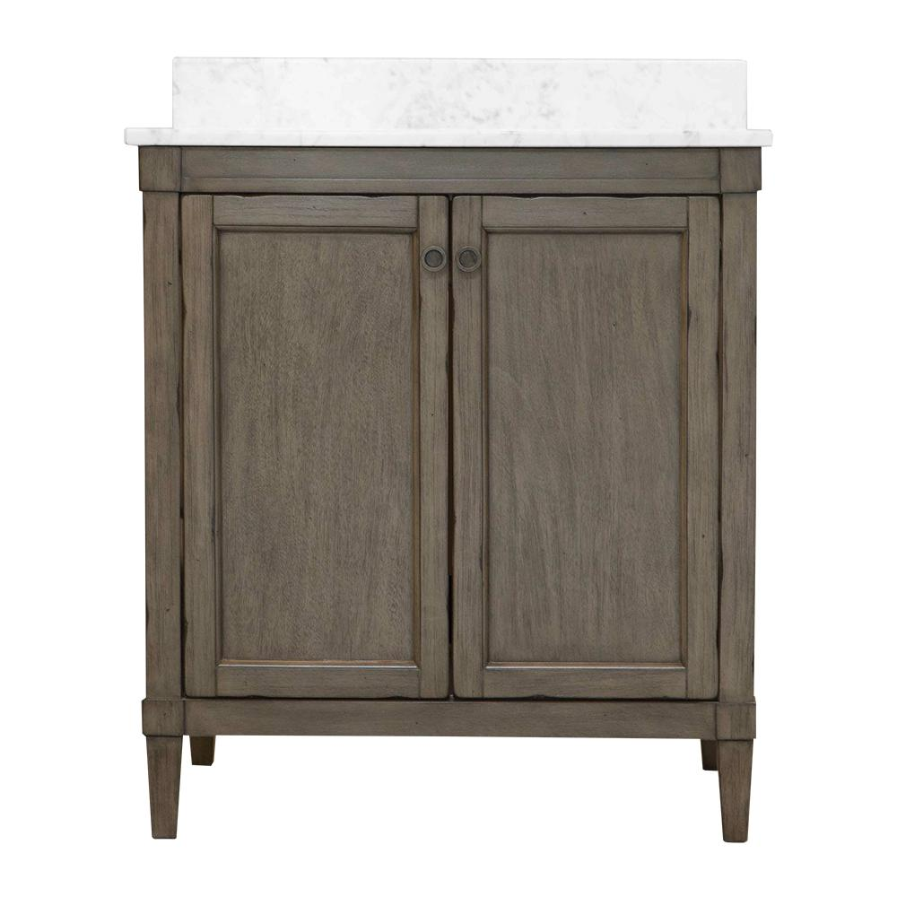Rosecliff 31 in. W x 22 in. D Vanity in Distressed