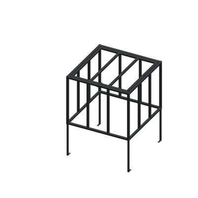 Standard Model 30 in. x 30 in. x Adjustable Height Black AC Security Cage with Hinged Top
