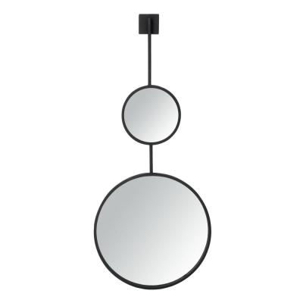Jander 18 in. X 42 in. Matte Black Framed Mirror