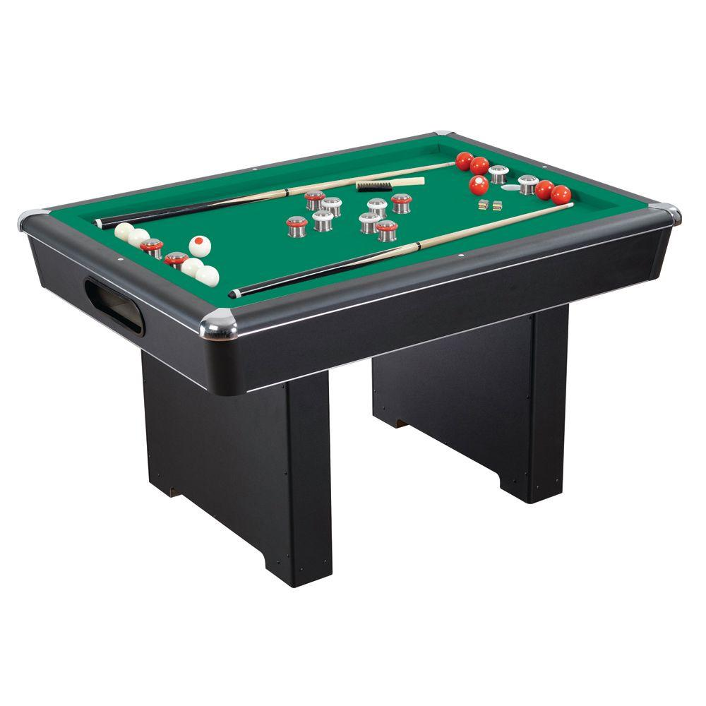 Slate Bumper Pool Table For Family Game Rooms With Green Felt