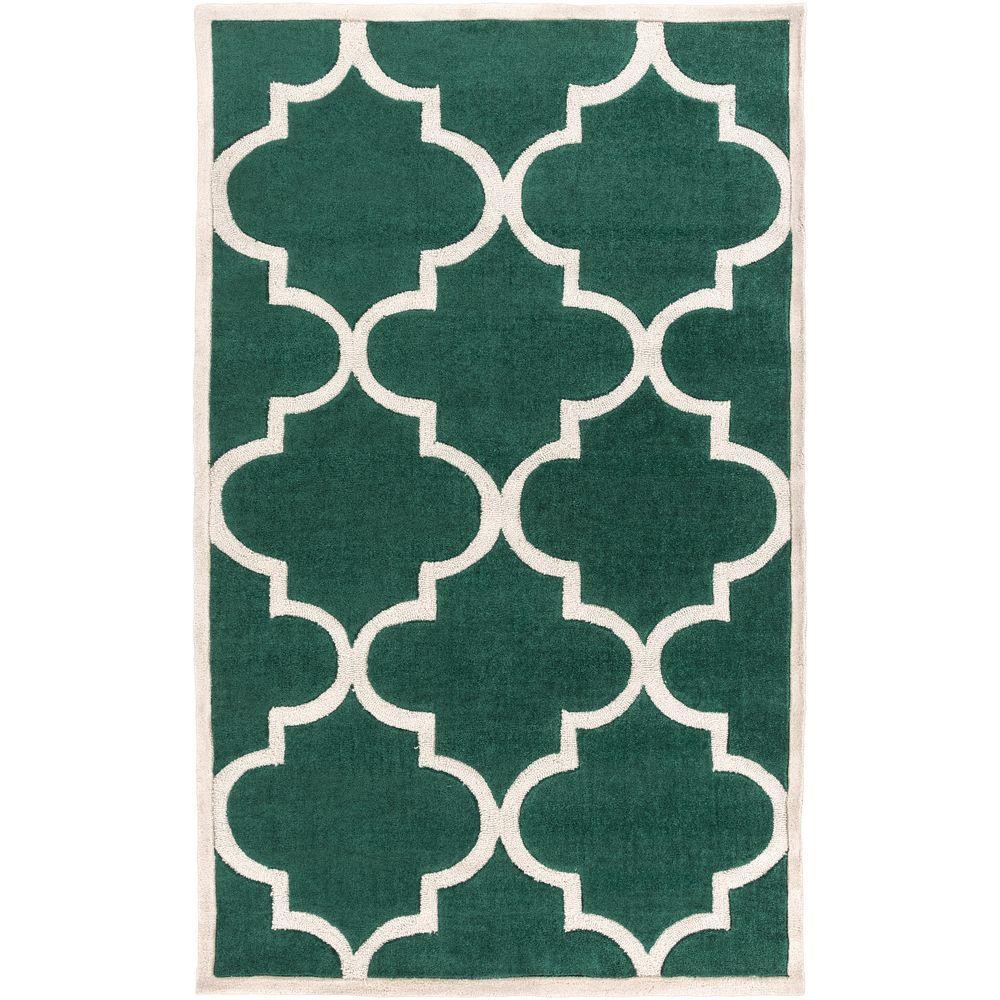 Idala Emerald 5 ft. x 8 ft. Indoor Area Rug
