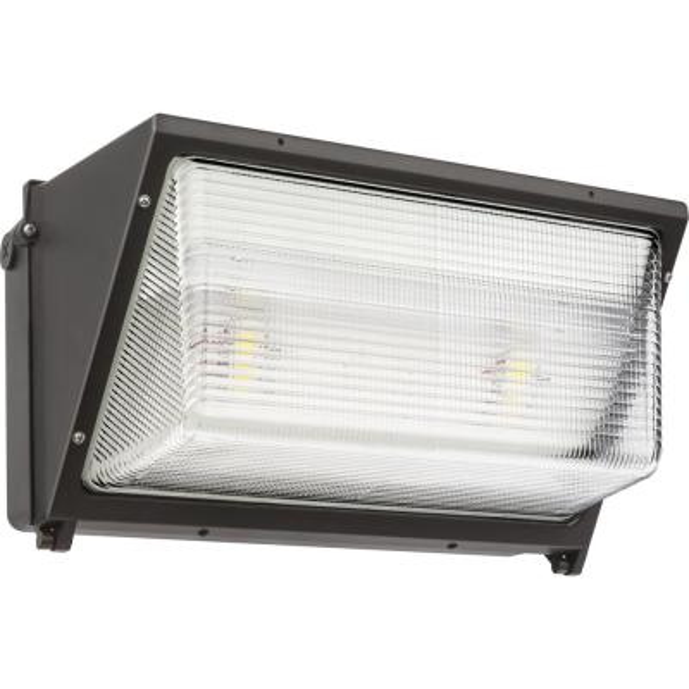 Contractor Select TWR 400-Watt Equivalent 11800 Adjustable Lumens Integrated LED Dark Bronze Wall Pack Light 5000K