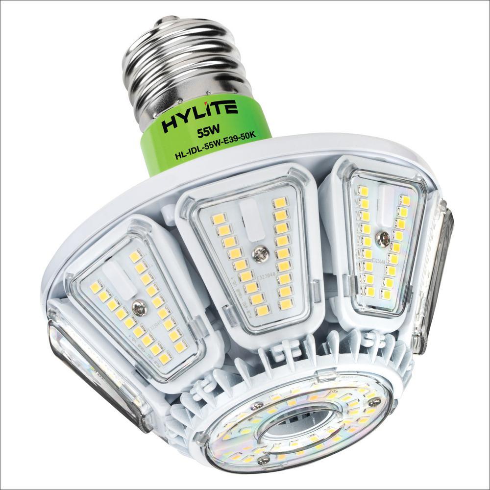 55W Intigo Down Light LED Lamp 250W HID Equivalent 5000K 7785 Lumens Ballast Bypass 120-277V UL & DLC Listed (1-Bulb)