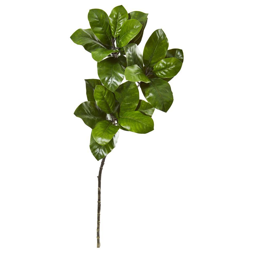 35 in. Magnolia Leaf Artificial Spray Plant (Set of 3)