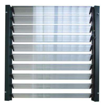 1.93 ft. W x 0.2 ft. D x 25.2 in. H Side Louver Window for Rion Greenhouse