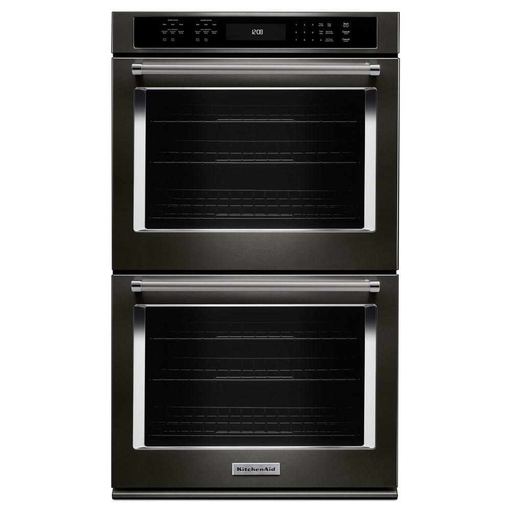KitchenAid 27 in. Double Electric Wall Oven Self-Cleaning...
