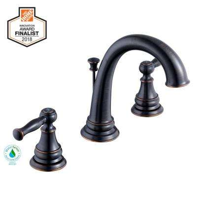 Fairway 8 in. Widespread 2-Handle High-Arc Bathroom Faucet in Bronze