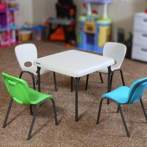 +6. Lifetime 5 Piece Lime Green And Almond Childrenu0027s Table ...