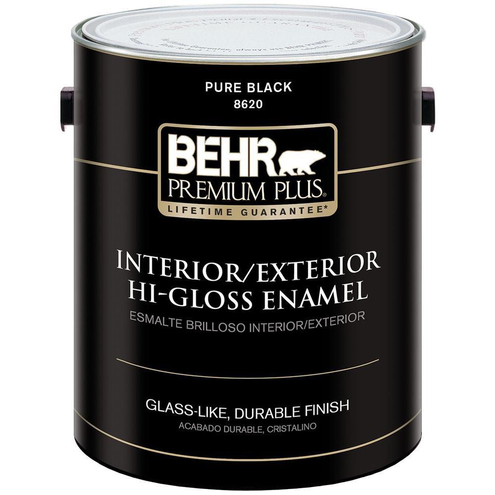 1-gal. Black Hi-Gloss Low VOC Interior/Exterior Paint