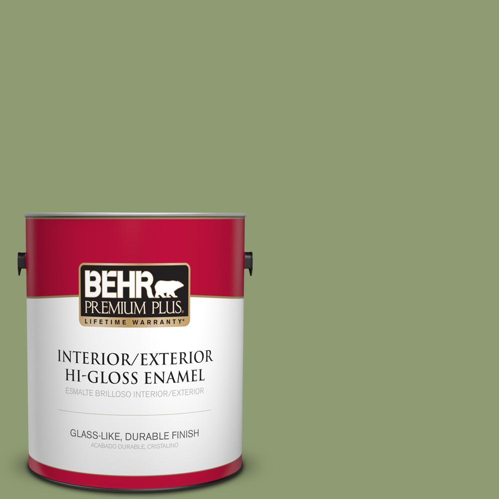 1 gal. #PPU11-04 Alamosa Green Hi-Gloss Enamel Interior/Exterior Paint