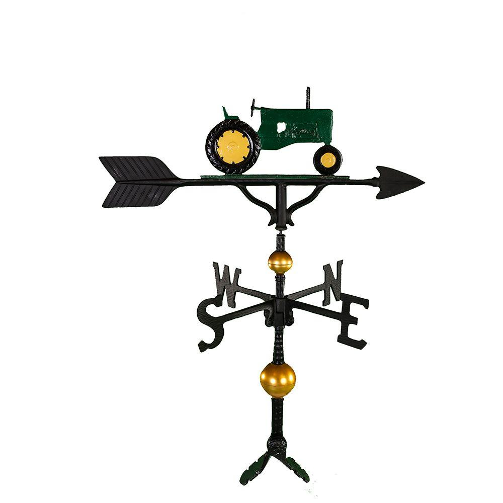 Montague Metal Products 32 in. Deluxe Green Tractor Weathervane