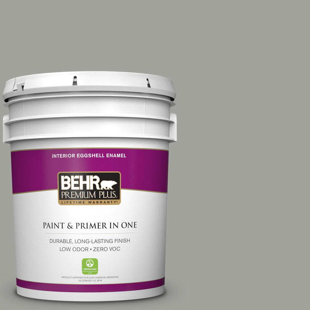 BEHR Premium Plus 5-gal. #N380-4 Strong Winds Eggshell Enamel Interior Paint