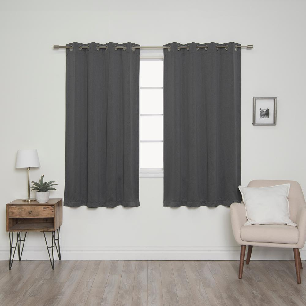 Best Home Fashion Heathered Linen Look 52 In. W X 63 In. L