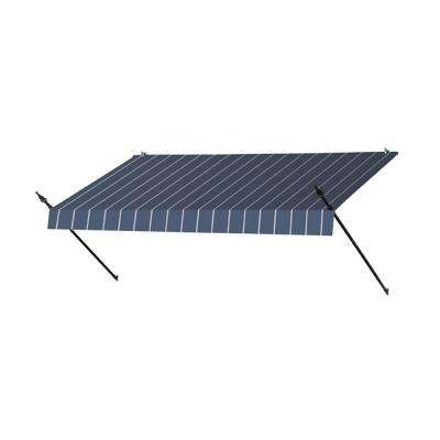 8 ft. Designer Manually Retractable Awning (36.5 in. Projection) in Tuxedo