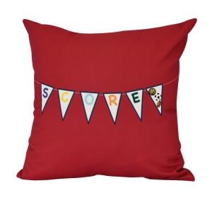 16 inch Score Word Print Decorative Pillow by