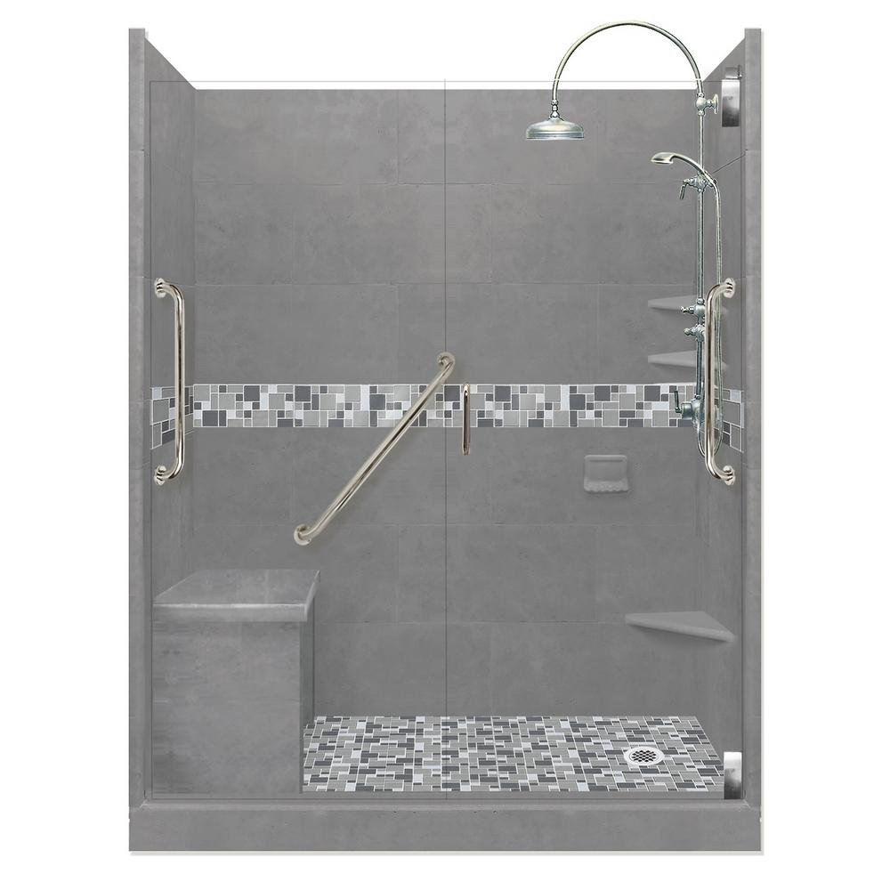 American Bath Factory Newport Freedom Luxe Hinged 36 In X