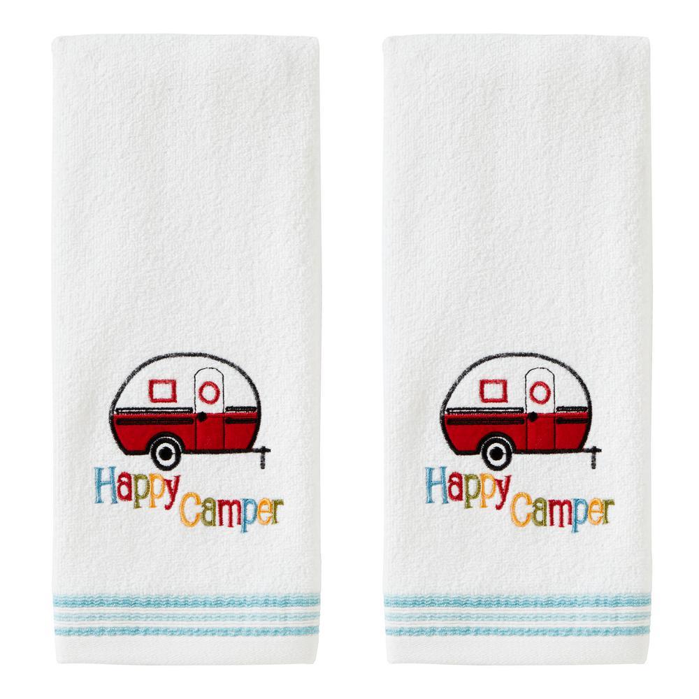 Skl Home Retro Camper Hand Towel 2pack White V2798000830203 The Home Depot