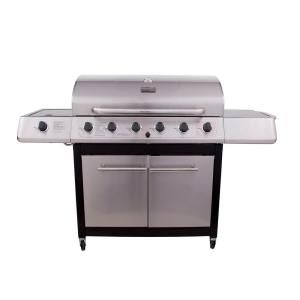 6-Burner Propane Gas Grill with Side and Sear Burner