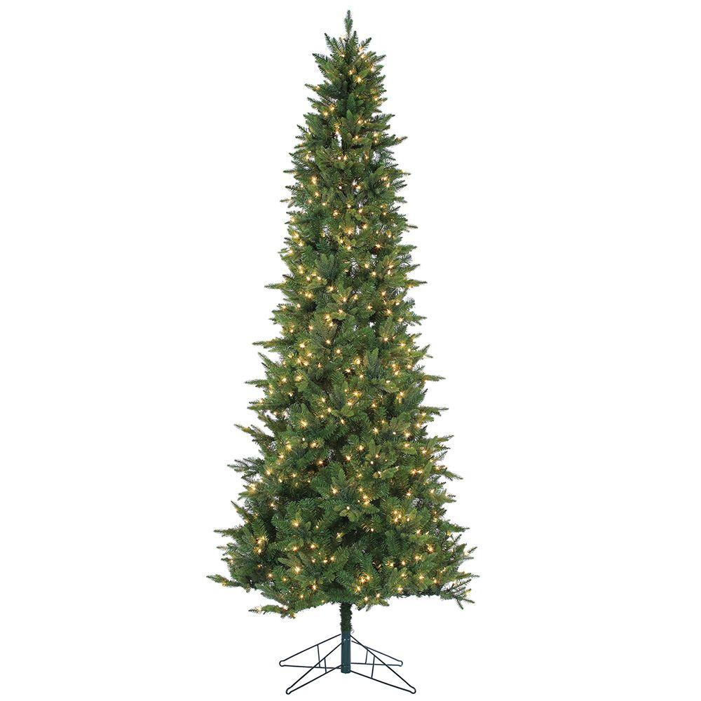Sterling 9 ft. Pre-Lit Natural Cut Salem Spruce Artificial ...