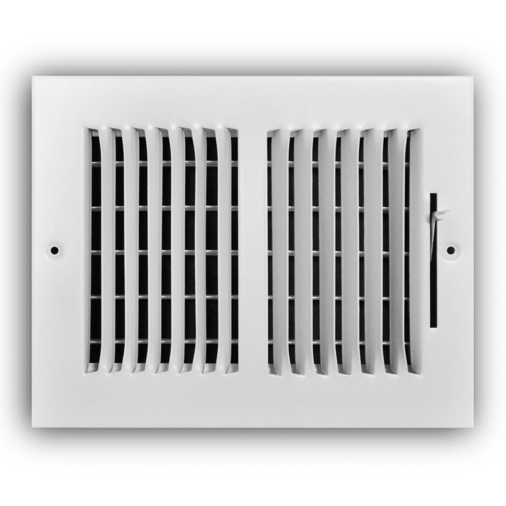 8 in. x 6 in. 2-Way Wall/Ceiling Register