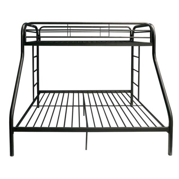 Homeroots Amelia Black Metal Twin Bed 286573 The Home Depot