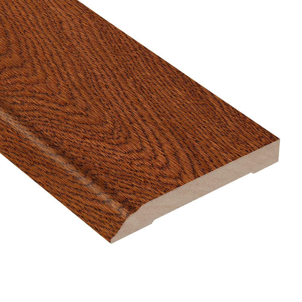 Gunstock Oak 1/2 in. Thick x 3-1/2 in. Wide x 94 in. Length Hardwood Wall Base Molding