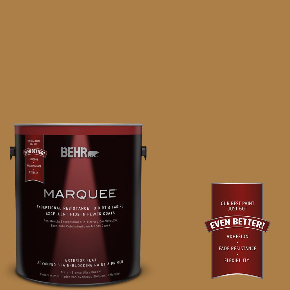 BEHR MARQUEE 1-gal. #M280-7 24 Karat Flat Exterior Paint