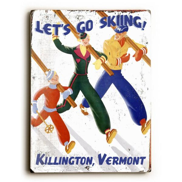 ArteHouse 9 in. x 12 in. ''Let's Go Skiing'' by Posters