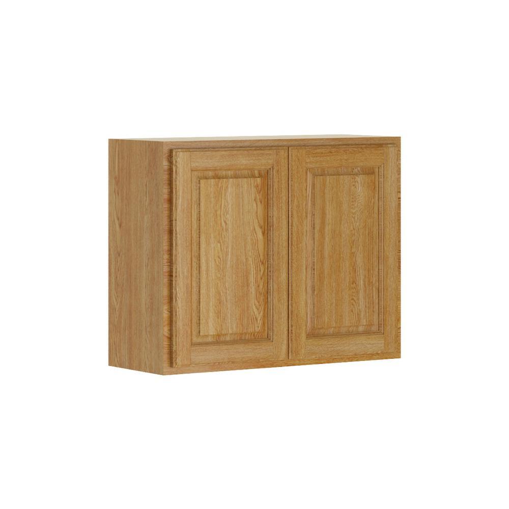 Medium Oak Kitchen: Hampton Bay Madison Assembled 30x24x12 In. Wall Bridge