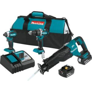 Makita 18-Volt LXT Lithium-Ion Brushless Cordless Combo Kit (3-Tool) with (2) 4.0 Ah Batteries, Rapid Charger,... by Makita