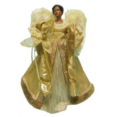 18 in. Gold Fabric Angel Tree Topper