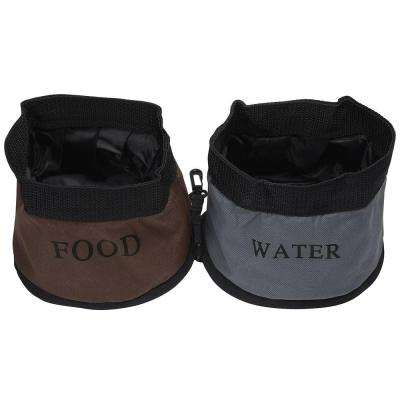 Camouflage Double Water Travel Pet Bowl