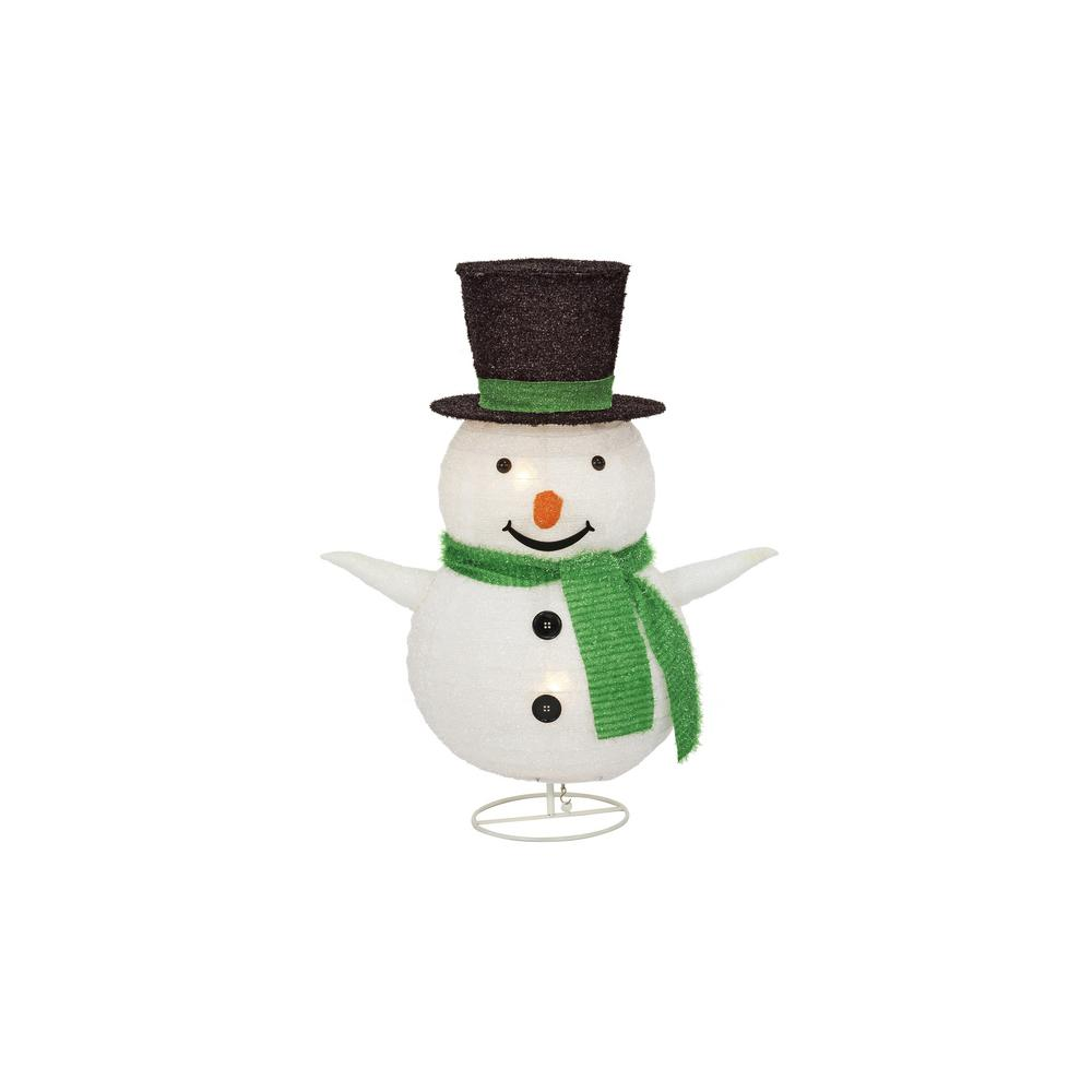 Home Accents Holiday 30 In. Lighted Collapsible Snowman